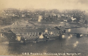 Receiving Ship Franklin, 1914. Library of Congress