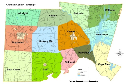 Chatham County Township Map. chathamnc.org