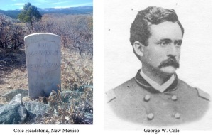 Brevet Brigadier General George Washington Cole (1827-1875). He is buried in Saint Vrain Cemetery, Mora County, AZ. Source: Marsha ?