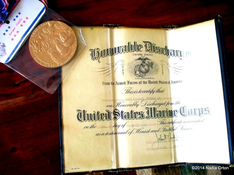 Congressional medal and discharge