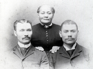 Alonzo Herndon with mother and brother 1890