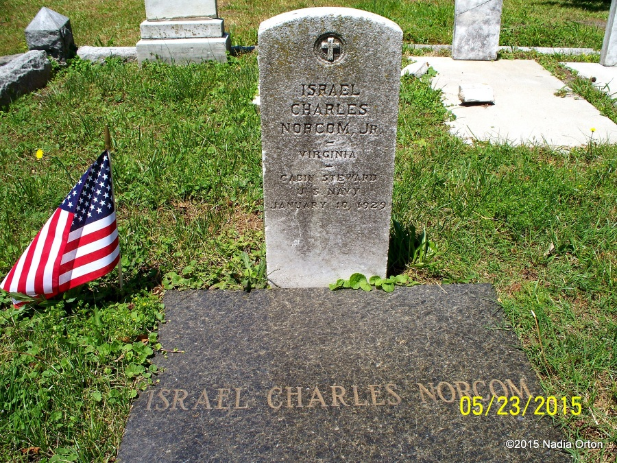 Israel Charles Norcom, Jr. Mt. Olive Cemetery Portsmouth