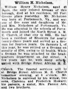 Nicholson Obit 22 Jan 1912 Brooklyn Daily Eagle Orton