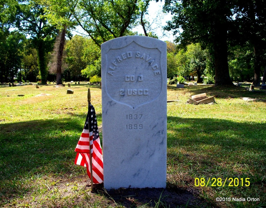 Pvt. Alfred Savage replacement gravestone Portsmouth Va. Orton