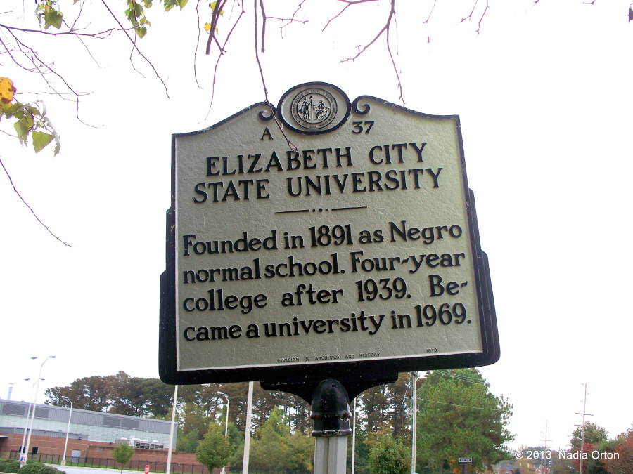 Elizabeth City State University historical marker. North Carolina Division of Archives and History, 1973.