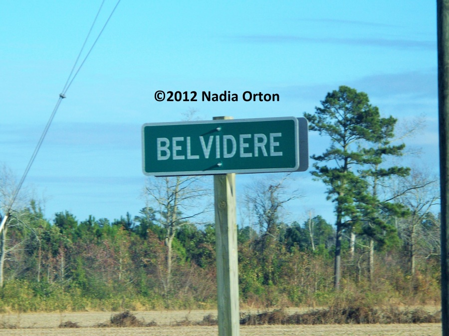 Belvidere Perquimans Co. Sign - Copyright 2012 Nadia Orton