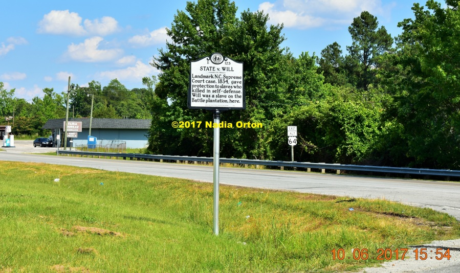 State v Will Historical Marker Copyright 2017 Nadia Orton