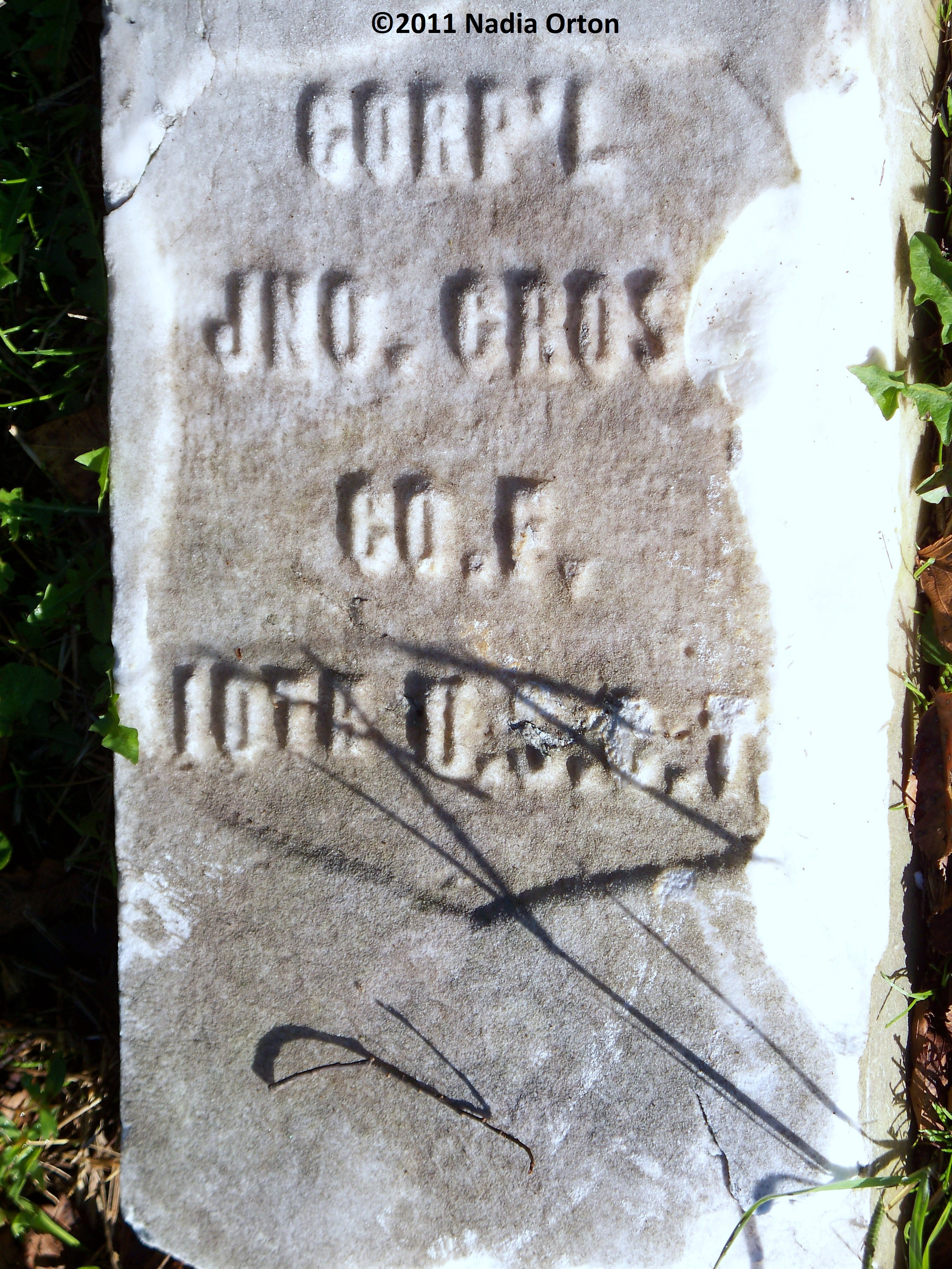 Cpl. John Cross, 10th United States Colored Infantry